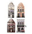 variations of old european facade houses vector image