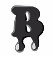 B letter isolated on white background vector image