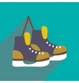 flat icon with long shadow pair of skates vector image