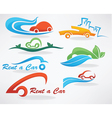 rent a car or take a taxi vector image vector image