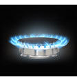 Gas burner vector image