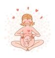 Happy pregnant woman vector image vector image