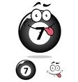 Billiard ball seven in cartoon format vector image