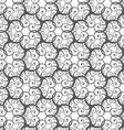 Monochrome many spirals vector image