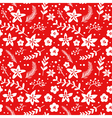 Christmas Floral Background - seamless pattern vector image