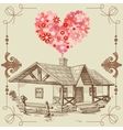 house of love vector image vector image