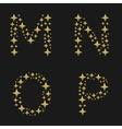 Golden sparkles alphabet vector image