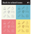 Back to school theme linear icons vector image