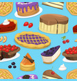 birthday celebration cream cake pie vector image