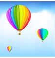 Colorful Hot Air Balloons vector image