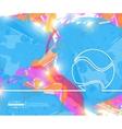 Creative tennis ball Art vector image