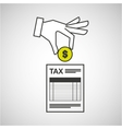 hand putting coin taxes pay vector image