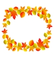 red leaves isolated vector image