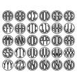 Vantage Monogram Alphabet Labels Badges vector image