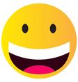 happy smile vector image