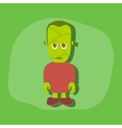 paper sticker on stylish background zombie men vector image