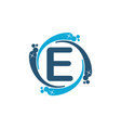 water clean service abbreviation letter e vector image