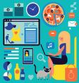 web shopping vector image