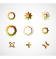 Abstract symmetric business icons vector image