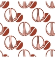 Roasted coffee beans brown seamless pattern vector image