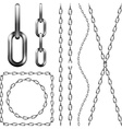 Set of metal chain vector image