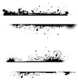 two grunge line banners vector image vector image