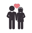 couple just married with heart vector image