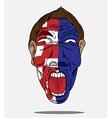 football fan from Croatia vector image