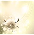 golden floral holiday background vector image