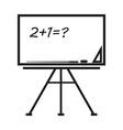 school board sign black icon vector image