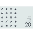 Set of kitchen the world icons vector image