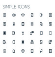 set of simple smartphone icons vector image