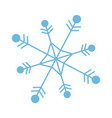 snowflake freeze winter blue icon graphic vector image