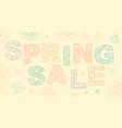 spring sale lettering design vector image