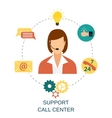Technical support woman operator vector image