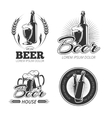 Vintage beer emblems labels badges logos vector image
