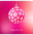 Christmas ball from snowflakes  EPS8 vector image vector image