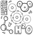 Science doodle vector image vector image