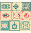 9 old cards with floral details vector image