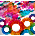 Colorful abstract design background vector image vector image