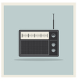 Retro radio receiver vector image