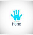 Hand abstract logo vector image