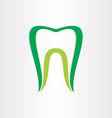 healthy teeth concept dentist tooth symbol vector image