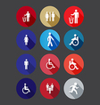 warning icon in the flat style vector image