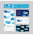 Business cards design watercolor clouds vector image vector image