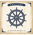 Vintage Steering Wheel vector image