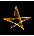 Abstract christmas gold star vector image