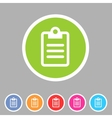 Clipboard checklist rules icon flat web sign vector image