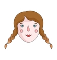 Daughter icon in cartoon style isolated on white vector image