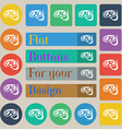 Diving icon sign Set of twenty colored flat round vector image